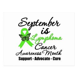 Septiembre es mes de la conciencia del linfoma tarjeta postal