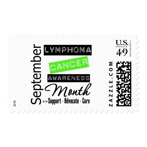Septiembre - mes de la conciencia del linfoma sellos