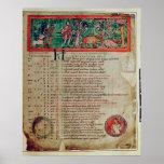 Septiembre: tendiendo el verraco, de un calendario poster