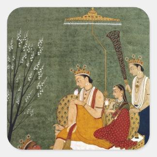Séptima encarnación de Vishnu como Rama-Chandra Pegatina Cuadrada