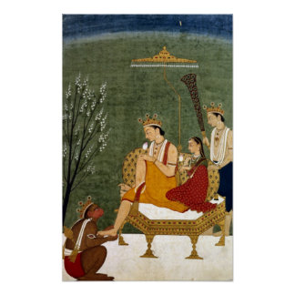 Séptima encarnación de Vishnu como Rama-Chandra Póster