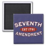Séptima enmienda Est 1791 Imanes De Nevera