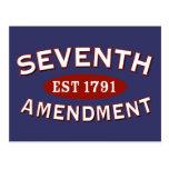 Séptima enmienda Est 1791 Tarjeta Postal