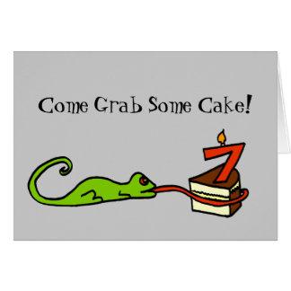 Séptima invitación del fiesta del lagarto del cump tarjetas