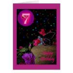 Séptimo 7 del faerie de hadas del feliz cumpleaños felicitación