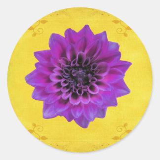 Séptimo - regalo de Chakra de la corona Etiqueta Redonda