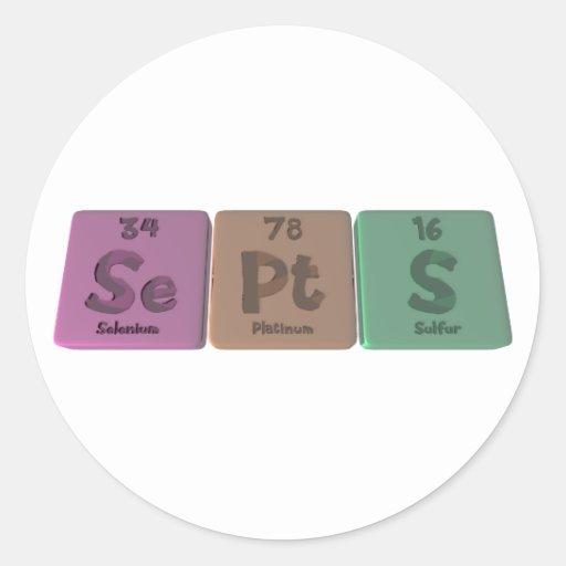 Septs-Se-Pt-S-Selenium-Platinum-Sulfur.png Pegatina Redonda