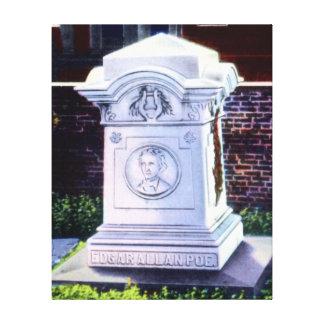 Sepulcro de Baltimore Maryland de Edgar Allan Poe Lienzo Envuelto Para Galerías