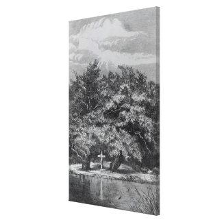 Sepulcro de Charles Waterton Lienzo Envuelto Para Galerias