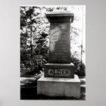 Sepulcro de Horatio Alger en Natick, Massachusetts Póster