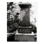 Sepulcro de Horatio Alger en Natick, Massachusetts Tarjeta Postal