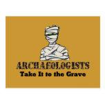 Sepulcro del arqueólogo tarjeta postal