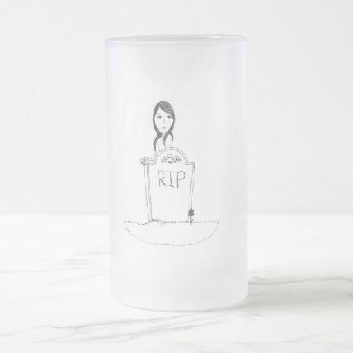 Sepulcro gótico taza cristal mate