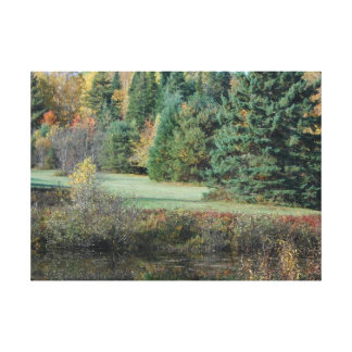Sepulcro histórico del otoño de Adirondack de la g Impresiones De Lienzo