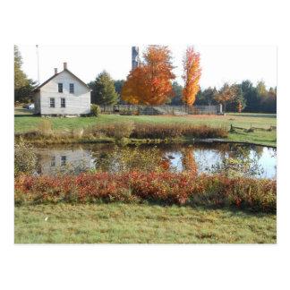 Sepulcro histórico del otoño de Adirondack de la Postal