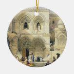 Sepulcro santo, en Jerusalén (litho del color) Ornamentos De Navidad