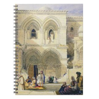 Sepulcro santo en Jerusalén litho del color Libro De Apuntes