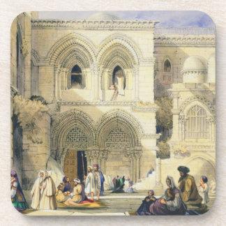 Sepulcro santo, en Jerusalén (litho del color) Posavasos