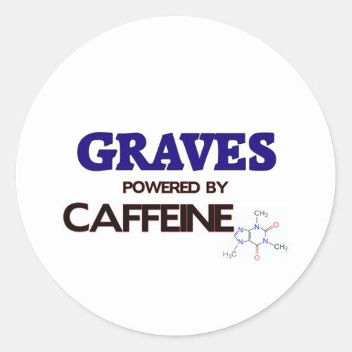 Sepulcros accionados por el cafeína pegatinas redondas