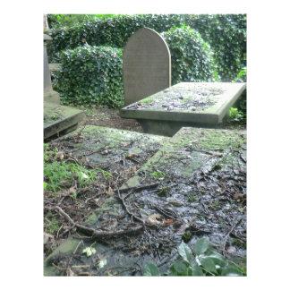 Sepulcros en el cementerio de Haworth en Yorkshire Plantillas De Membrete