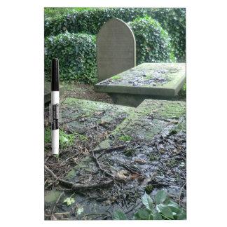 Sepulcros en el cementerio de Haworth en Yorkshire Pizarra Blanca