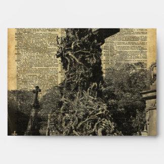 Sepulcros góticos del Victorian, arte de Halloween Sobres