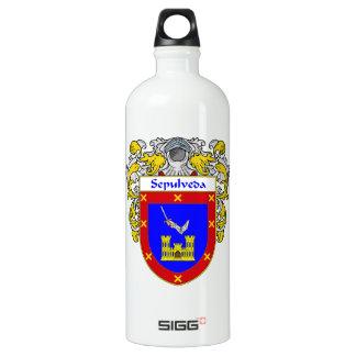 Sepulveda Coat of Arms/Family Crest Aluminum Water Bottle