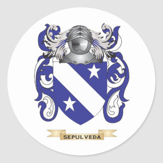 Sepulveda Coat of Arms (Family Crest) Round Sticker