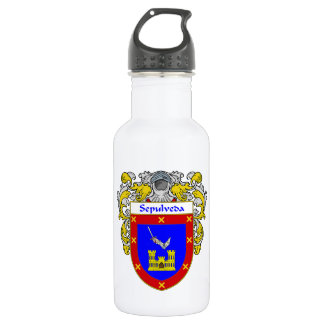 Sepulveda Coat of Arms/Family Crest Water Bottle