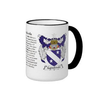 Sepulveda Family Coat of Arms Mugs