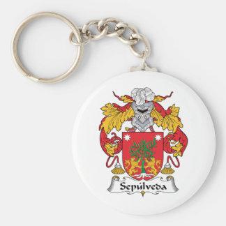 Sepulveda Family Crest Key Chain