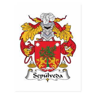 Sepulveda Family Crest Postcard
