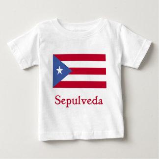 Sepulveda Puerto Rican Flag Baby T-Shirt