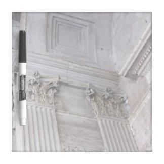 Seque al tablero del borrado--Arco del panteón Pizarras Blancas De Calidad