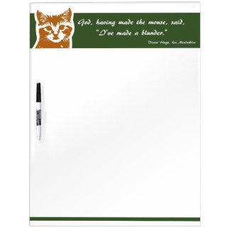Seque al tablero del borrado grande: El gato Pizarras