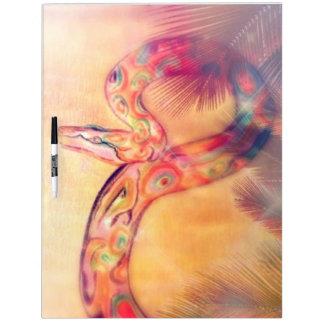 Seque el arte de la pintura de la serpiente de pizarra