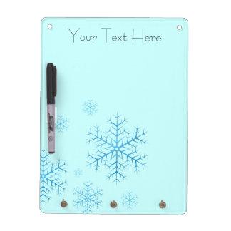 Seque el tablero del borrado - copos de nieve pizarras blancas