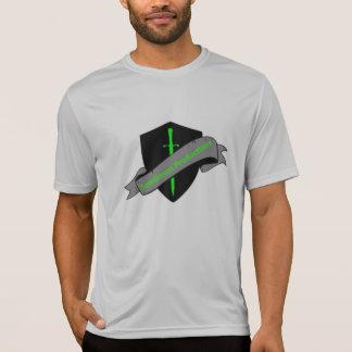 Seque la camiseta apta del logotipo