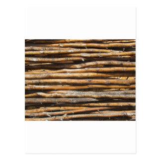 Seque la decoración wattled de la cerca tarjeta postal