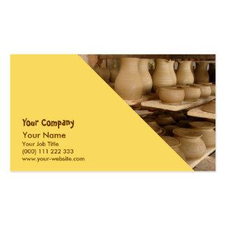 Sequedad de la cerámica plantillas de tarjetas personales
