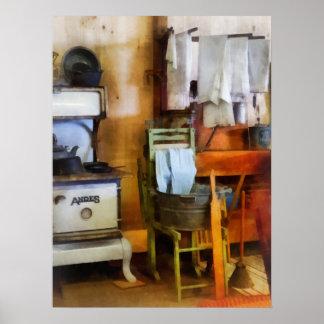 Sequedad del lavadero en cocina póster