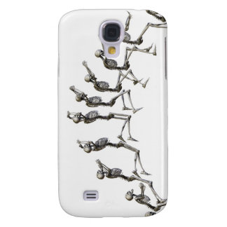 Sequence illustrating a human skeleton jumping samsung galaxy s4 covers