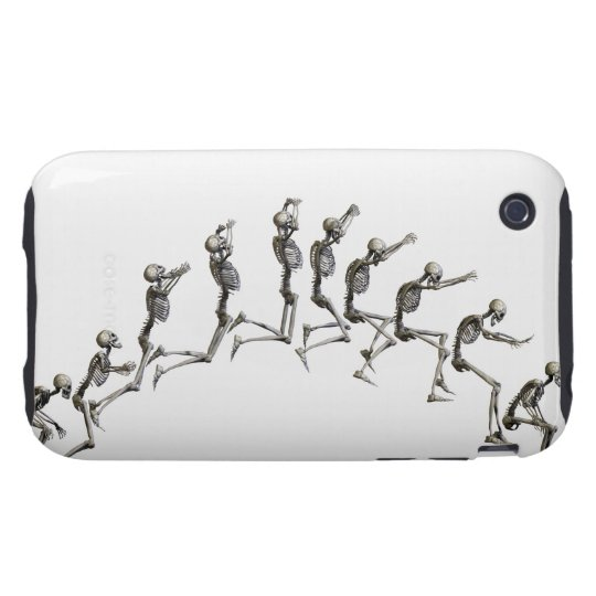 Sequence illustrating a human skeleton jumping tough iPhone 3 cover