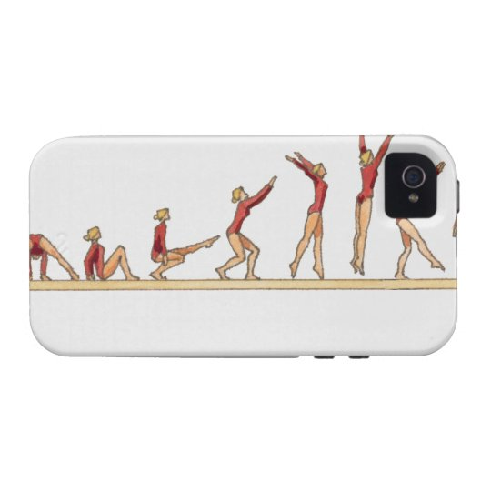 Sequence of illustrations showing female Case-Mate iPhone 4 case