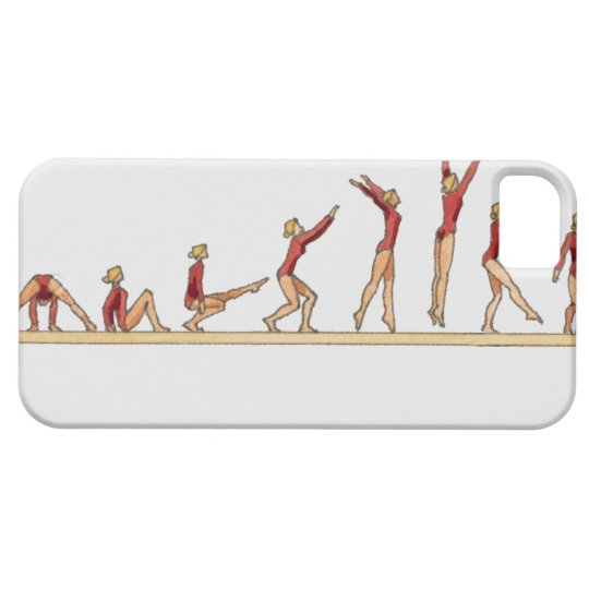 Sequence of illustrations showing female iPhone SE/5/5s case
