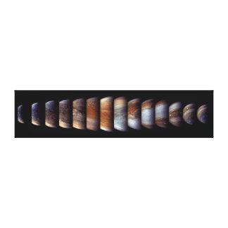 Sequence of Juno Spacecraft Approach to Jupiter Canvas Print
