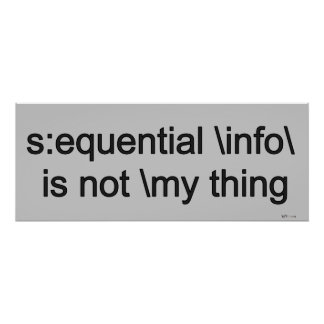 Sequential info is not my thing... (funny) posters