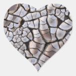 Sequía Calcomanía Corazón Personalizadas
