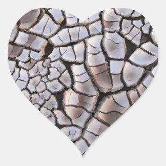 Sequía Pegatina En Forma De Corazón