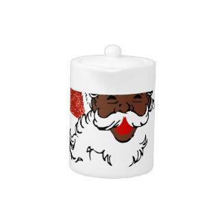 sequin African santa claus Teapot